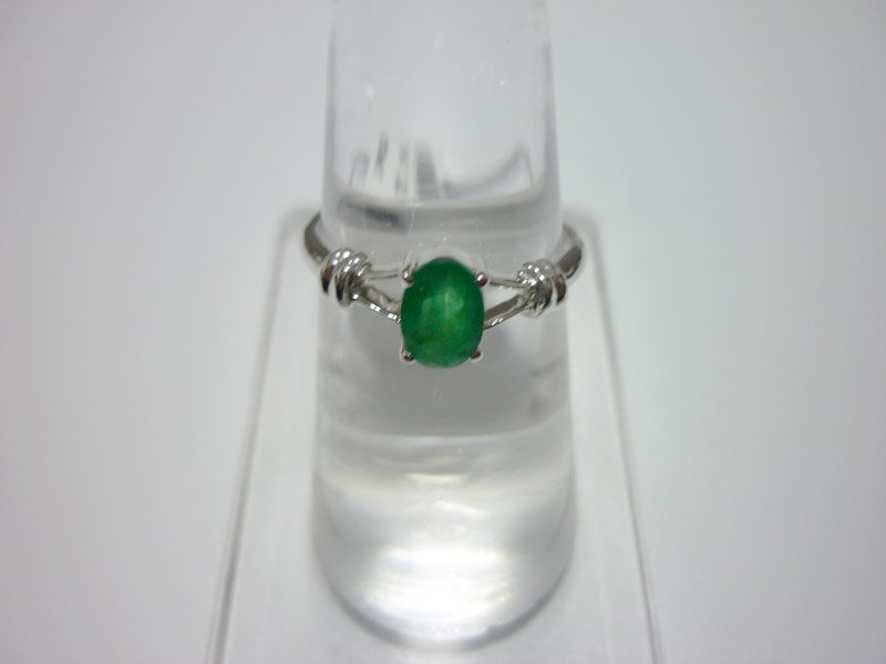 NATURAL 8.75 CTW EMERALD RING .925 STERLING SILVER