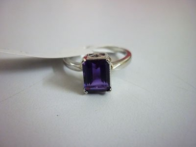 NATURAL 12.50 CTW AMETHYST RING .925 STERLING SILVER