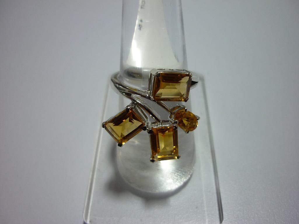 25.00 CTW CITRINE RING .925 STERLING SILVER