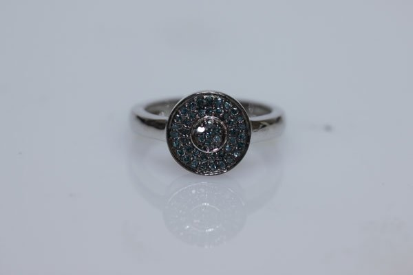 19.14 CTW SEMIPRECIOUS RING .925 STERLING SILVER
