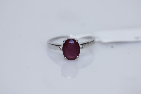 11.00 CTW RUBY RING .925 STERLING SILVER
