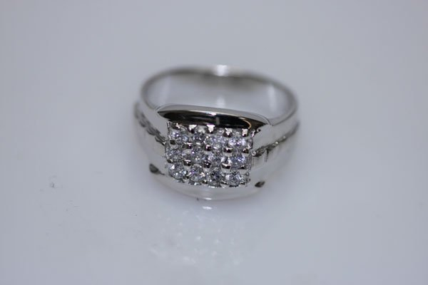 25.8 CTW CZ RING .925 STERLING SILVER