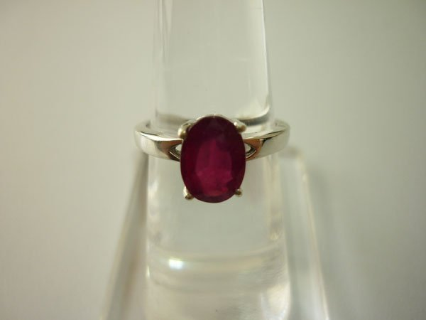 13.75 CTW RUBY RING .925 STERLING SILVER