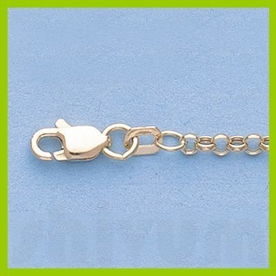 """Genuine 16"""" 14k Gold-Yellow 2.3mm Hallow Rolo Chain"""