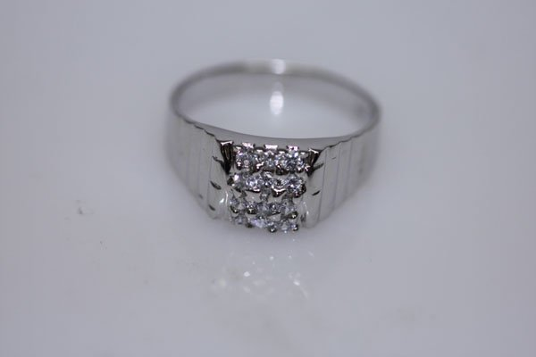 17.5 CTW CZ RING .925 STERLING SILVER