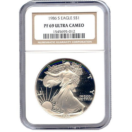 Certified Proof Silver Eagle PF69 1986