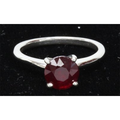 Natural 0.75ctw Ruby .925 Sterling Silver Ring