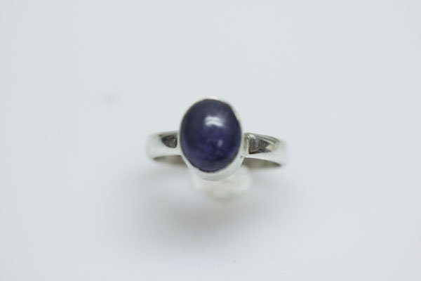 NATURAL 1G.30 CTW TANZANITE OVAL CUT RING .925 STERLING
