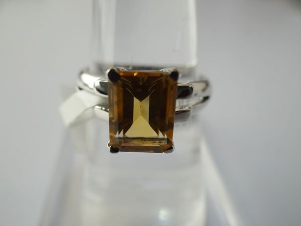 16.50 CTW CITRINE RING .925 STERLING SILVER