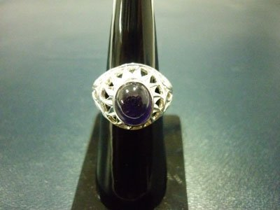 NATURAL 34.50 CTW  AMETHYST RING .925 STERLING SILVER