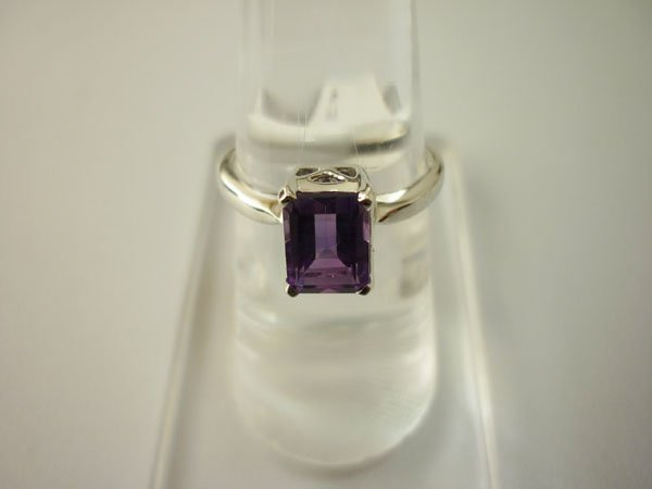12.50 CTW AMETHYST RING .925 STERLING SILVER