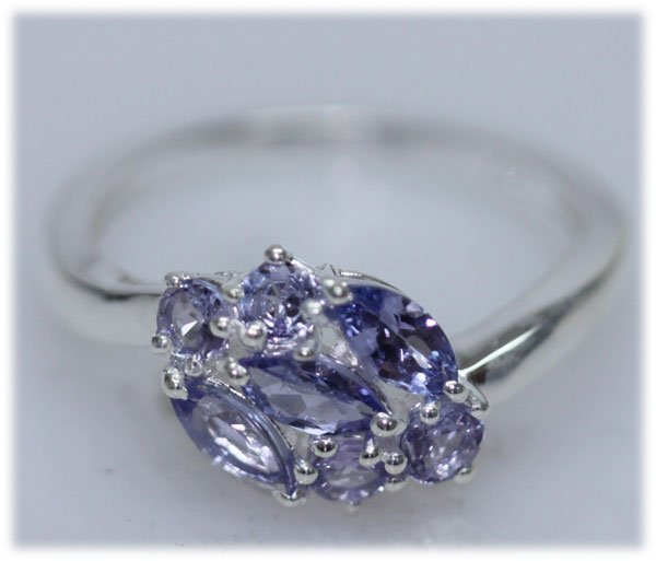 12.05 CTW TANZANITE RING .925 STERLING SILVER