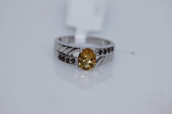18.50 SEMIPRECIOUS RING .925 STERLING SILVER