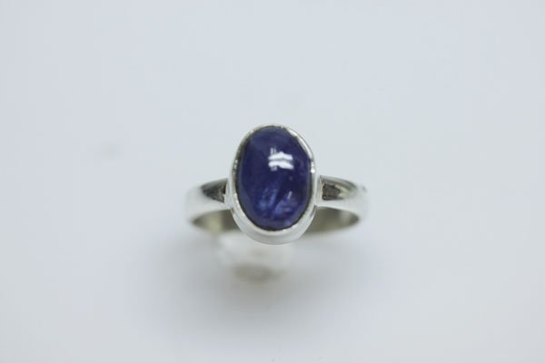NATURAL 1G.50 CTW TANZANITE OVAL CUT RING .925 STERLING