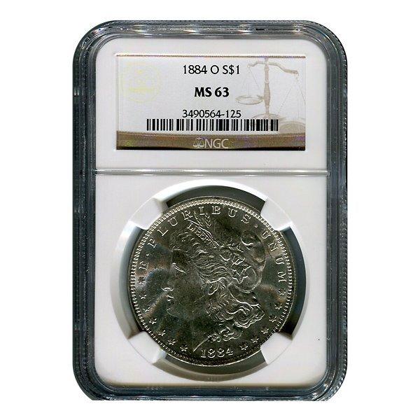 Certified Morgan Silver Dollar MS63