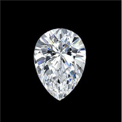 Diamond EGL Cert. Pear 0.73 ctw D, SI1