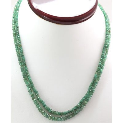 Emerald round 2 rows 94.12 ctw Necklace