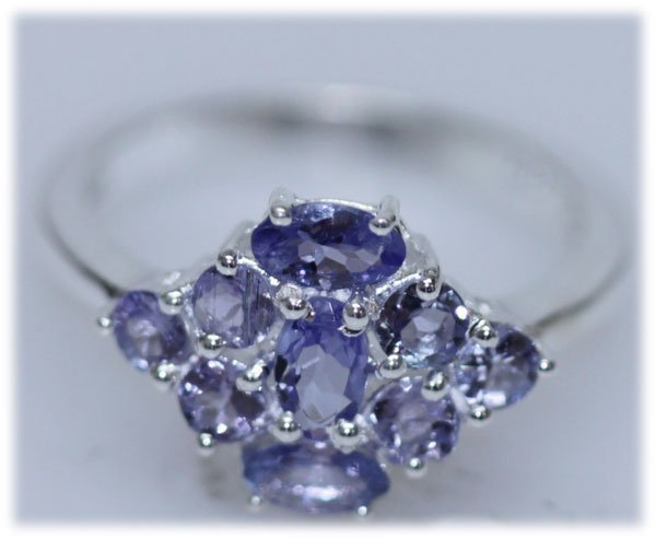 11.32 CTW TANZANITE RING .925 STERLING SILVER