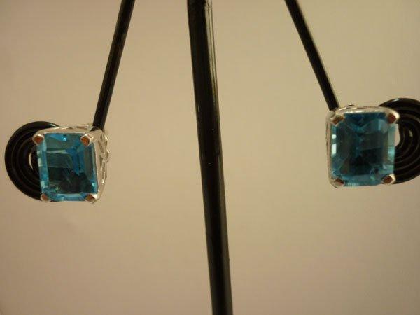 21.50 CTW BLUE TOPAZ EARRING .925 STERLING SILVER