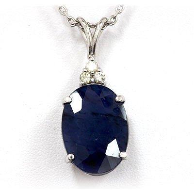 Genuine 16.44 ctw Sapphire Necklace 14k