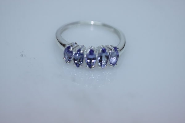 10.03 CTW TANZANITE RING .925 STERLING SILVER