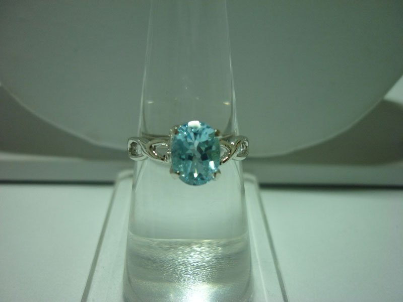 12.00 ctw Blue Topaz RING .924 STERLING SILVER