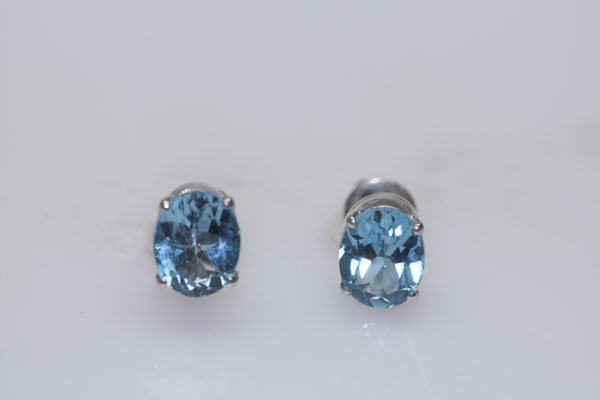 17.35 CTW BLUE TOPAZ EARRING .925 STERLING SILVER