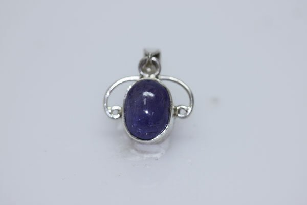 NATURAL 14.50 CTW TANZANITE OVAL CUT PENDANT .925 STERL
