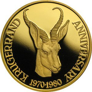 1980 1 oz Proof Gold South African Medal