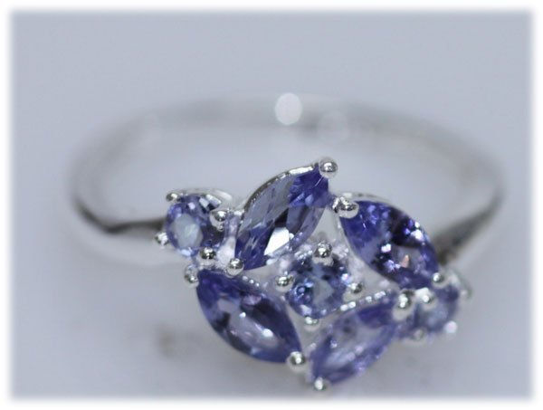 10.44 CTW TANZANITE RING .925 STERLING SILVER