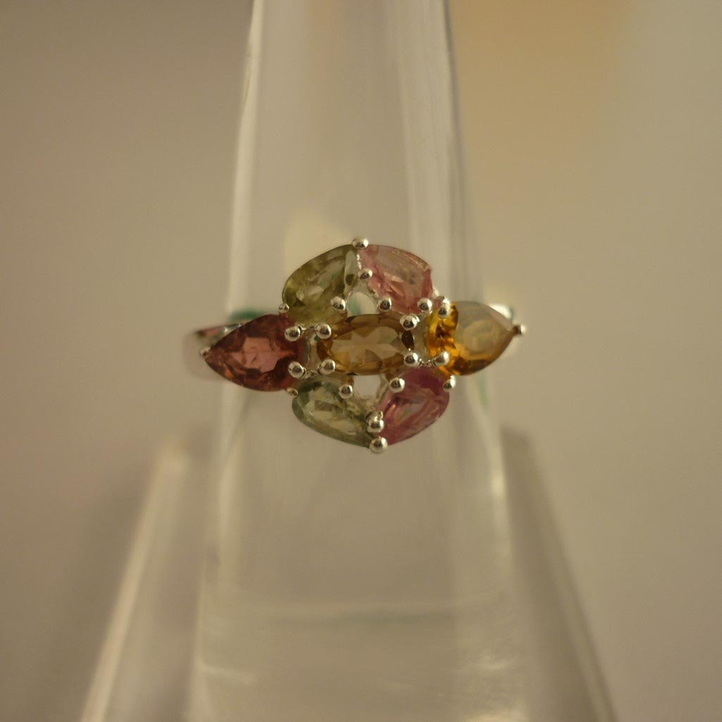 24.19 ctw,SEMIPRECIOUS RING .925 STERLING SILVER