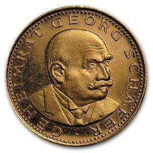 Germany 1958 Medallic Coin - 0.225 AGW - Georg Schafer