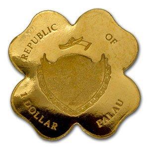 Palau Gold $1 Four-Leaf Clover (1/2 gram of Pure Gold)