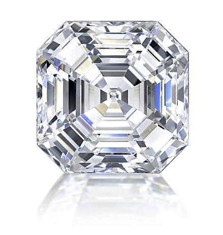 EGL CERT. 5.38 CTW ASSCHER CUT DIAMOND H/VS2