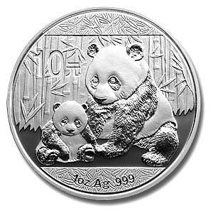 Chinese Silver Panda One Ounce 2012