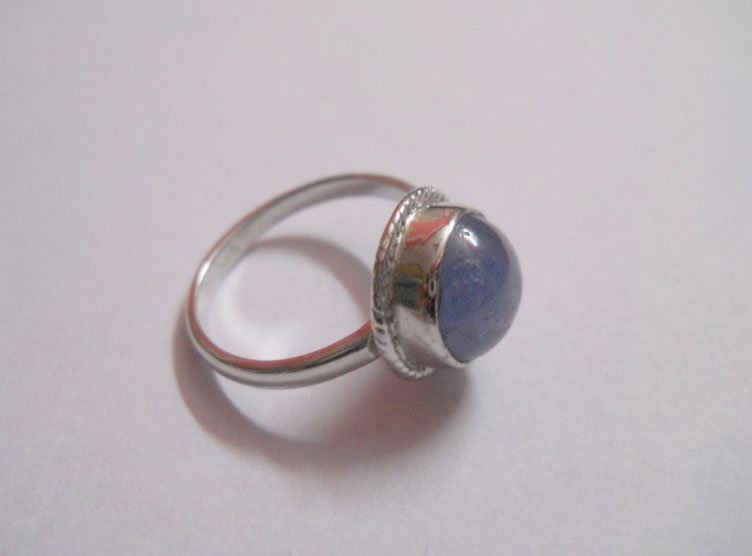 16.25 CTW TANZANITE RING .925 STERLING SILVER