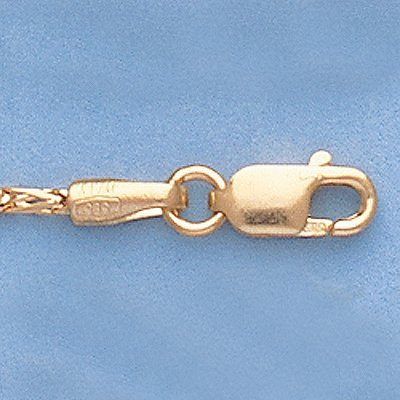 "Genuine 16"" 14k Gold-Yellow 1.3mm Figaro Franco Chain"