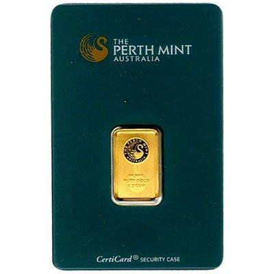 Gold Bars: Perth Mint 5 Gram Gold Bar