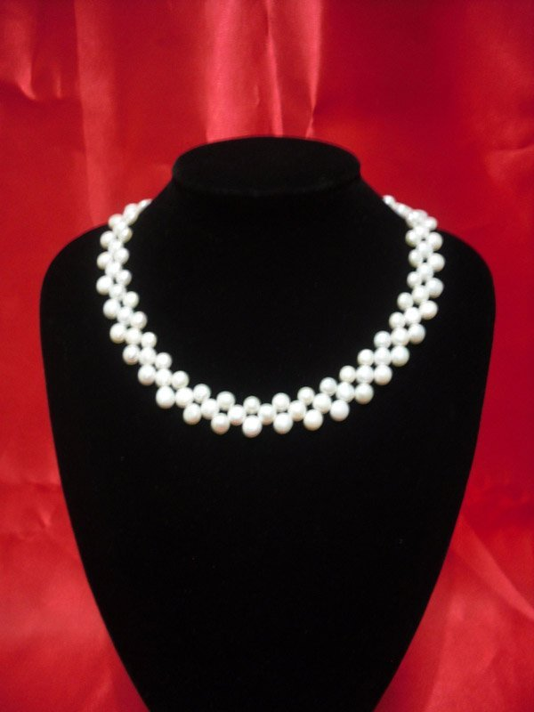 16 INCH 250CTW SIOPAO FLAT WHITE PEARL NECKLACE
