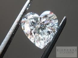 GIA CERT. 1.01 CTW DIAMOND HEART D/VVS1