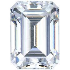 GIA CERT. 0.71 CTW DIAMOND EMERALD H/VS1