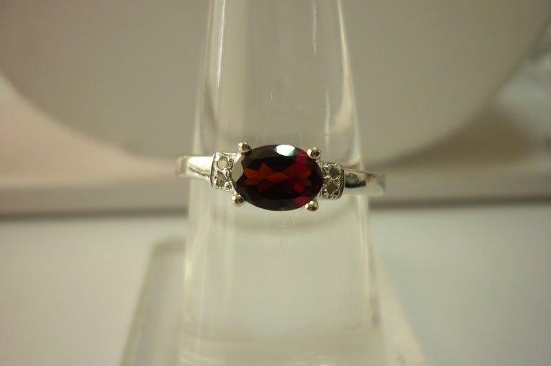10.20 ctw Garnet Ring .925 Sterling Silver