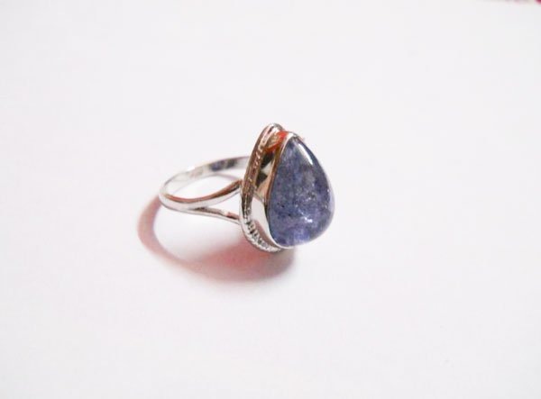 27.25 CTW TANZANITE RING .925 STERLING SILVER