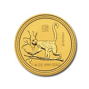 2004 1/4 oz Gold Year of the Monkey Lunar Coin (Series