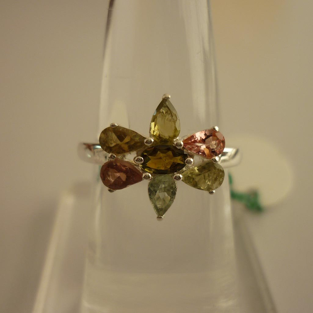 24.50ctw,SEMIPRECIOUS RING .925 STERLING SILVER