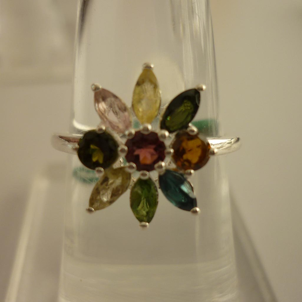 24.30 ctw,SEMIPRECIOUS RING .925 STERLING SILVER