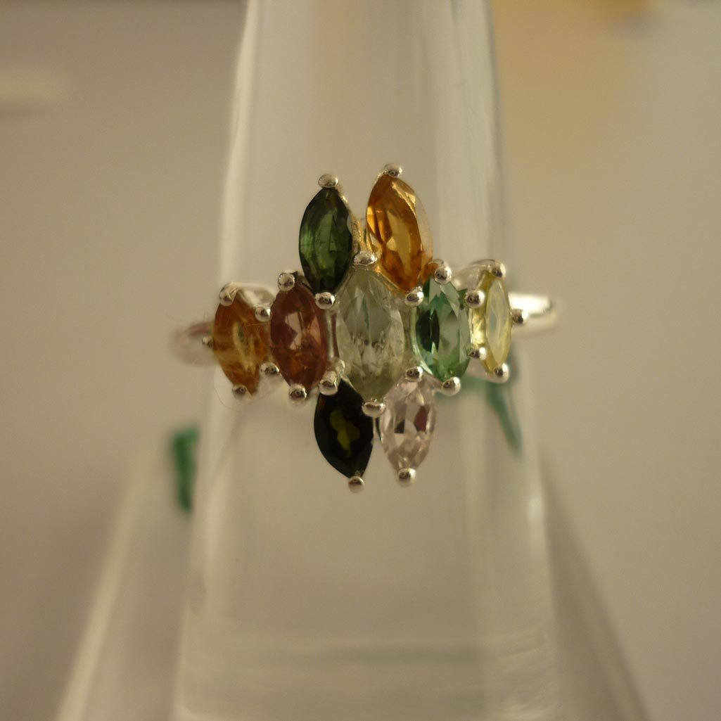 24.45 ctw,SEMIPRECIOUS RING .925 STERLING SILVER
