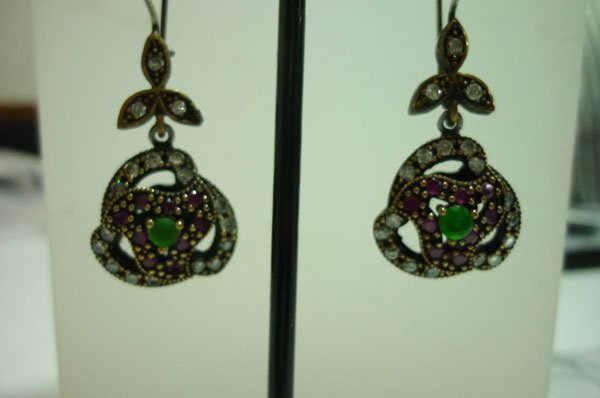 58.00 CTW Turkish earring .925 STERLING SILVER