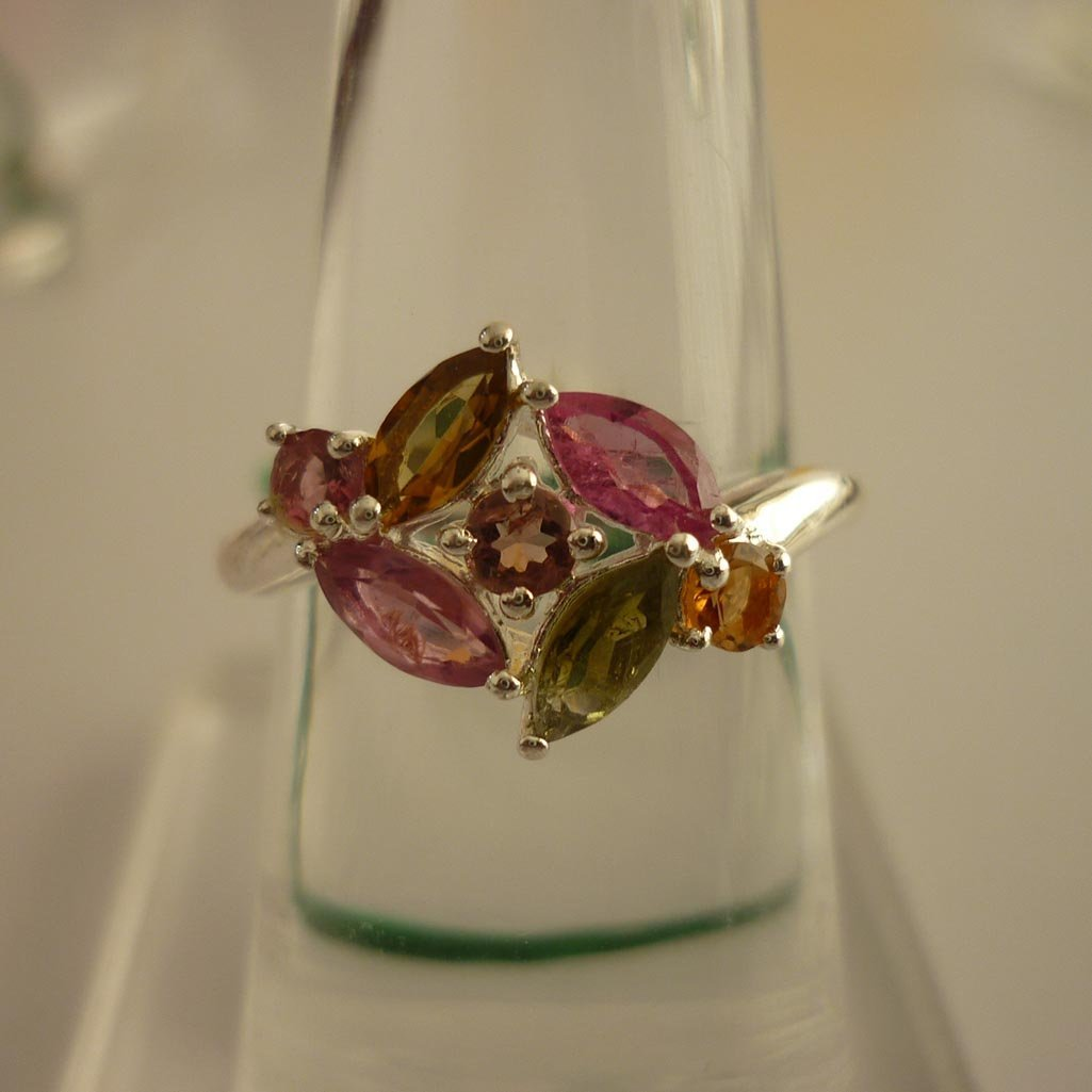 20.70ctw.SEMIPRECIOUS RING .925 STERLING SILVER