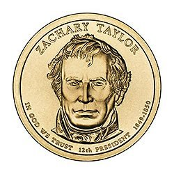 Presidential Dollars Zachary Taylor 2009-P 25 pcs (Roll
